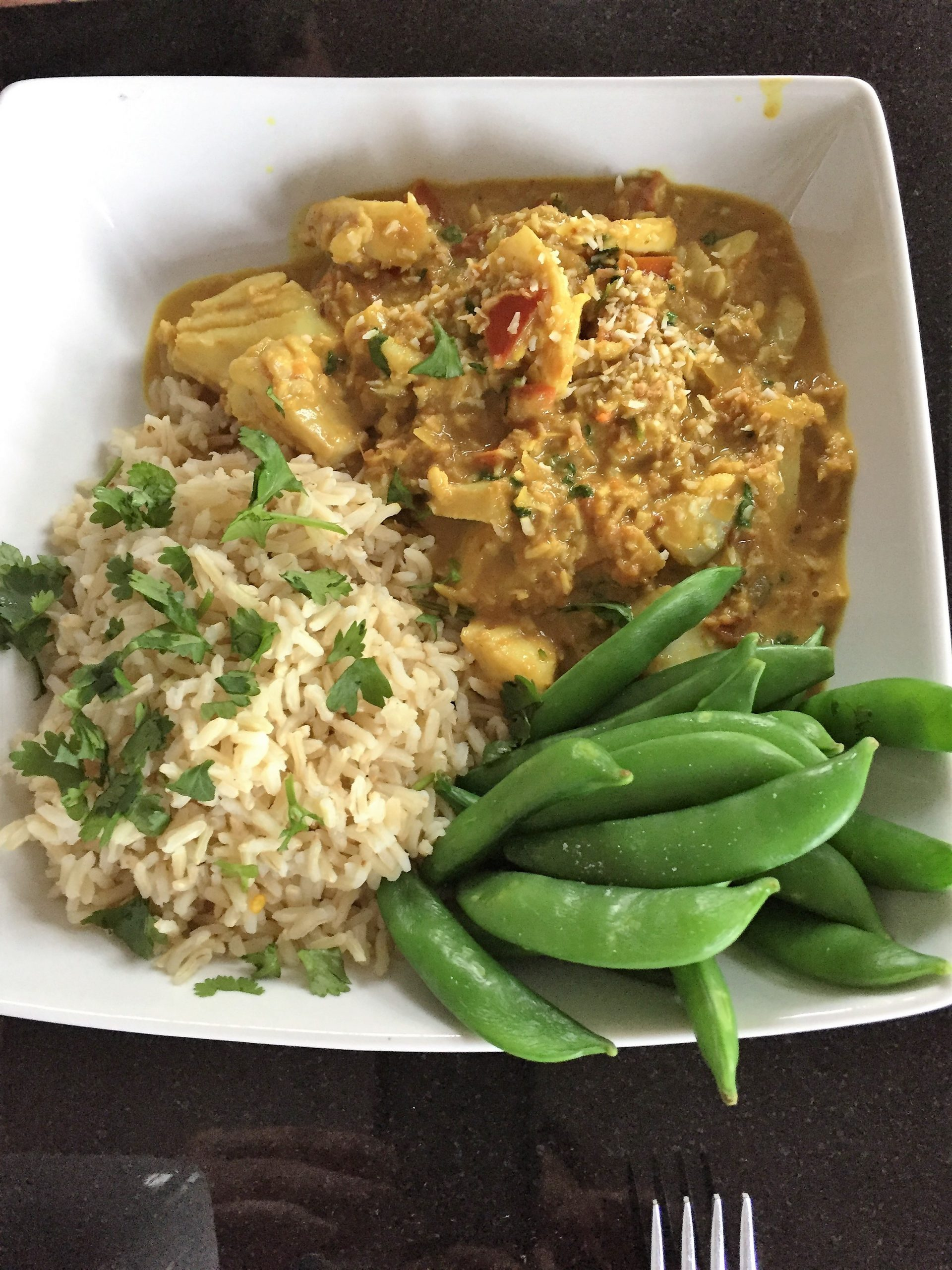 Monkfish Coconut Curry