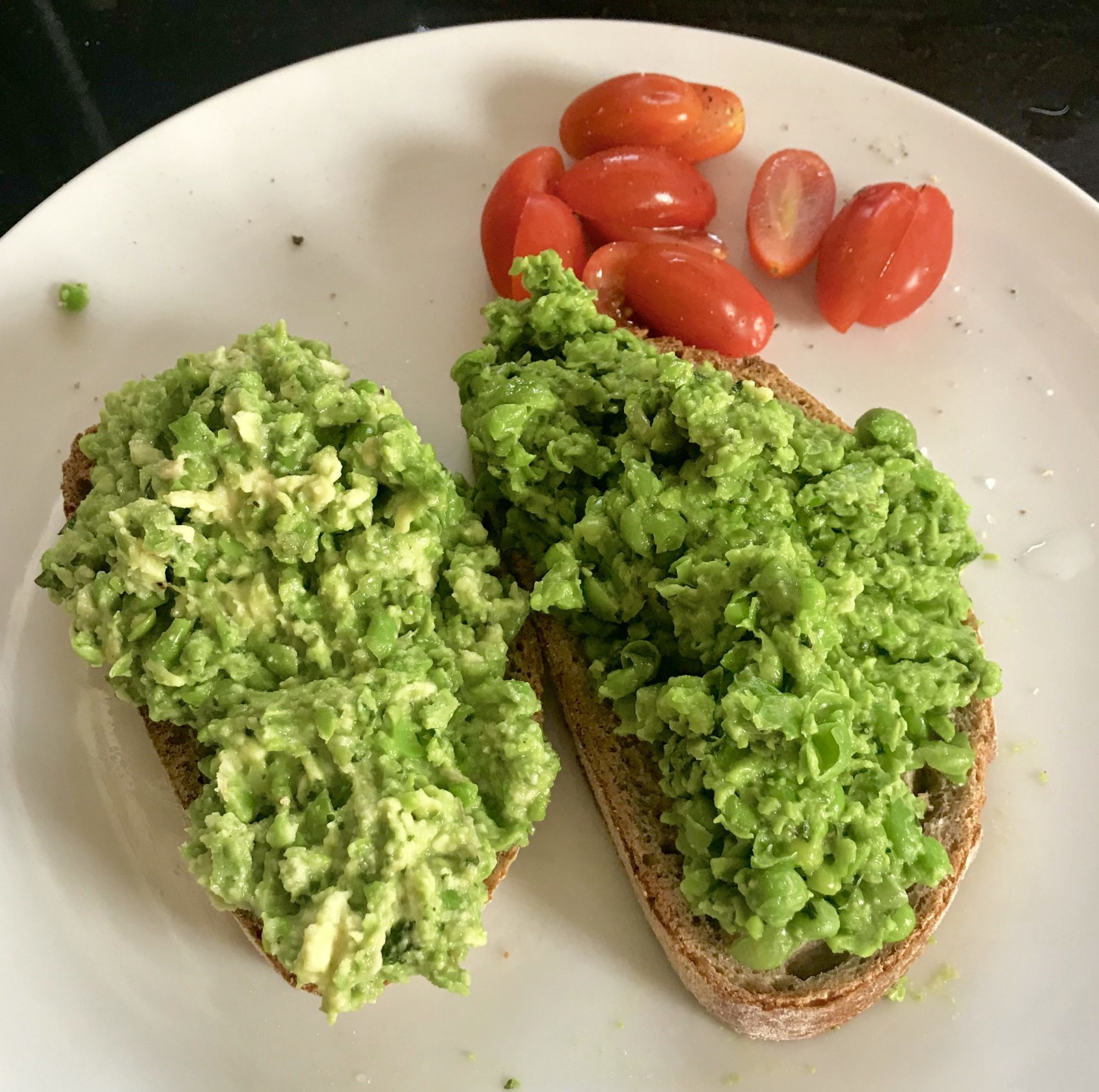 Peas and Avocado on Sourdough Recipe The Mindful Cook