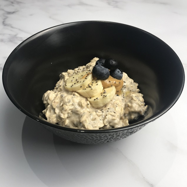 Peanut and banana overnight oats The Mindful Cook